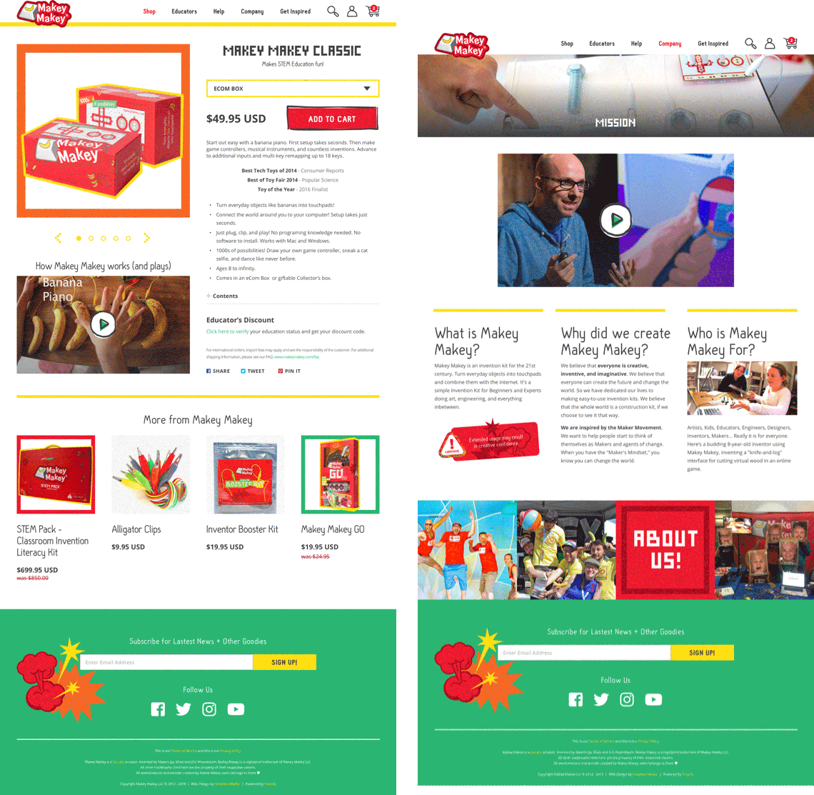 Makey Makey - Detail Pages