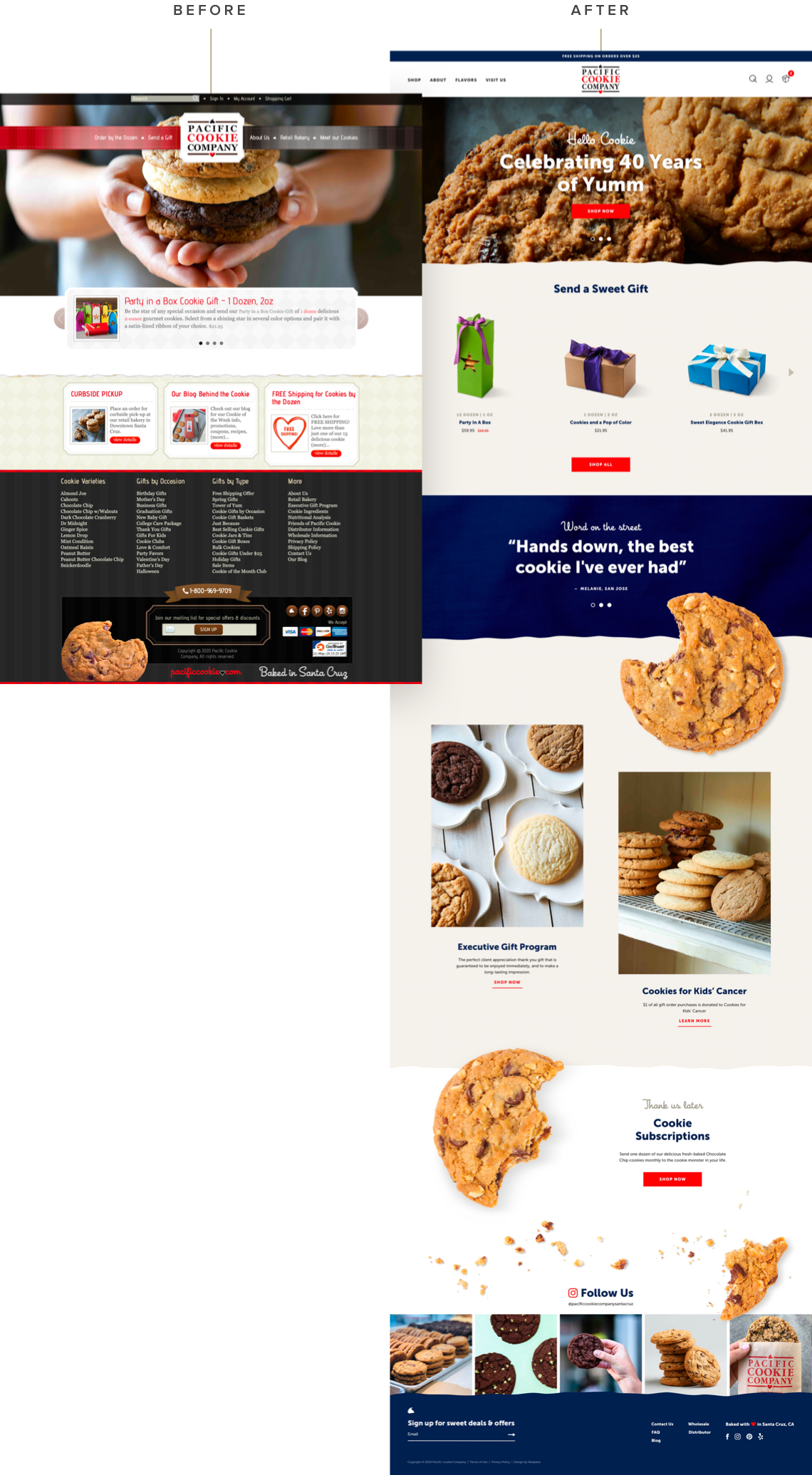 Pacific Cookie Company - Before & After