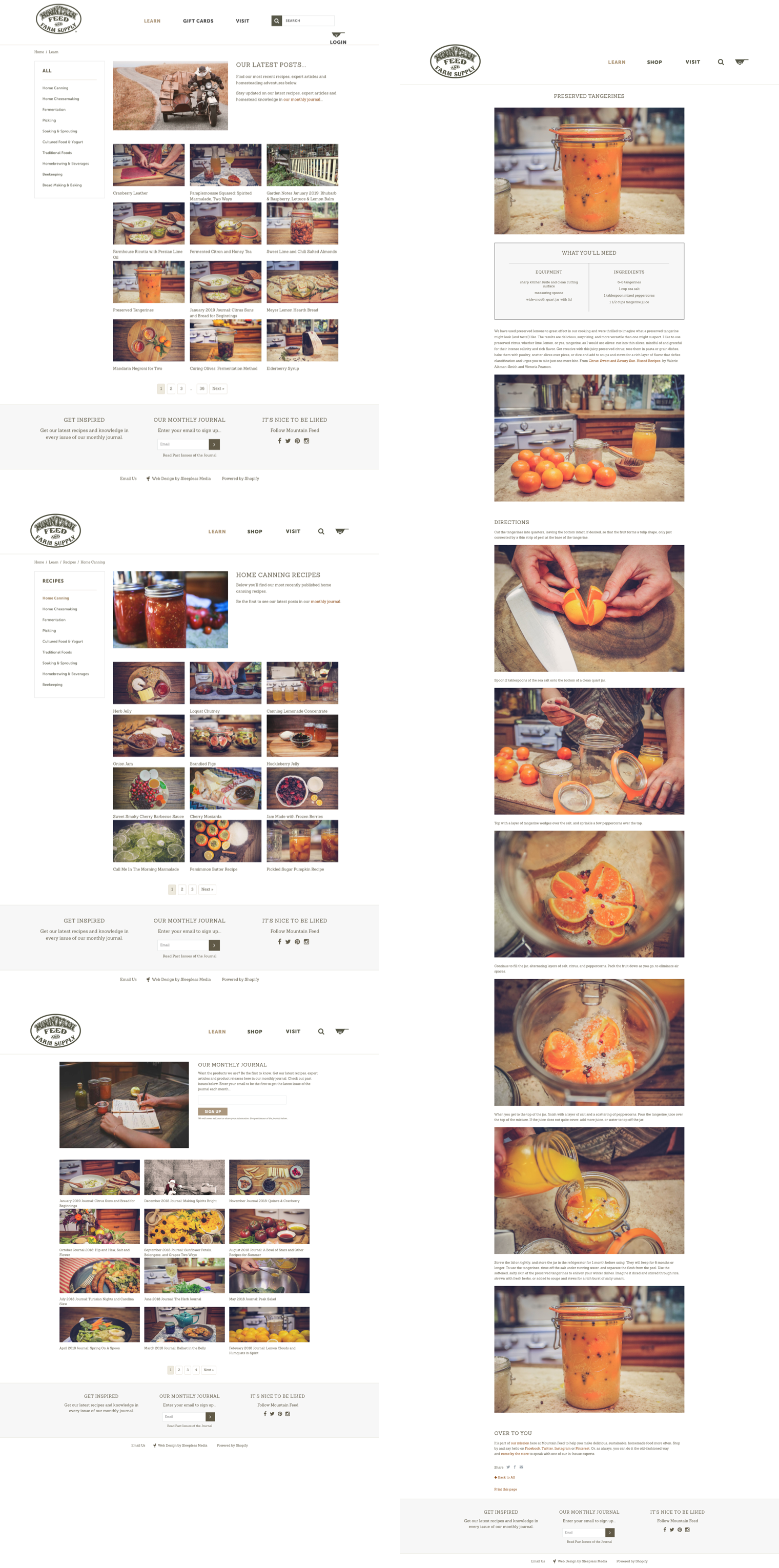 Mountain Feed Interior Pages