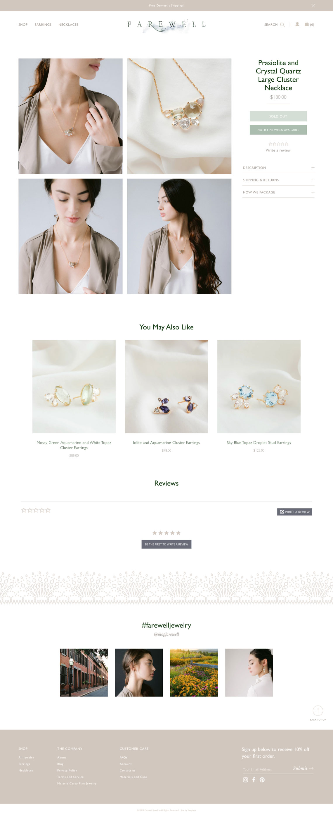 Farewell Jewelry - Product