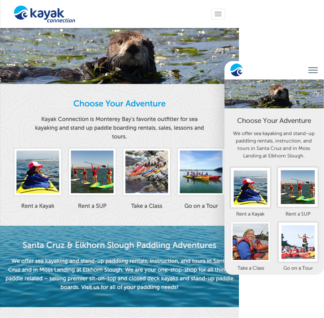 Kayak Connection - Mobile Devices