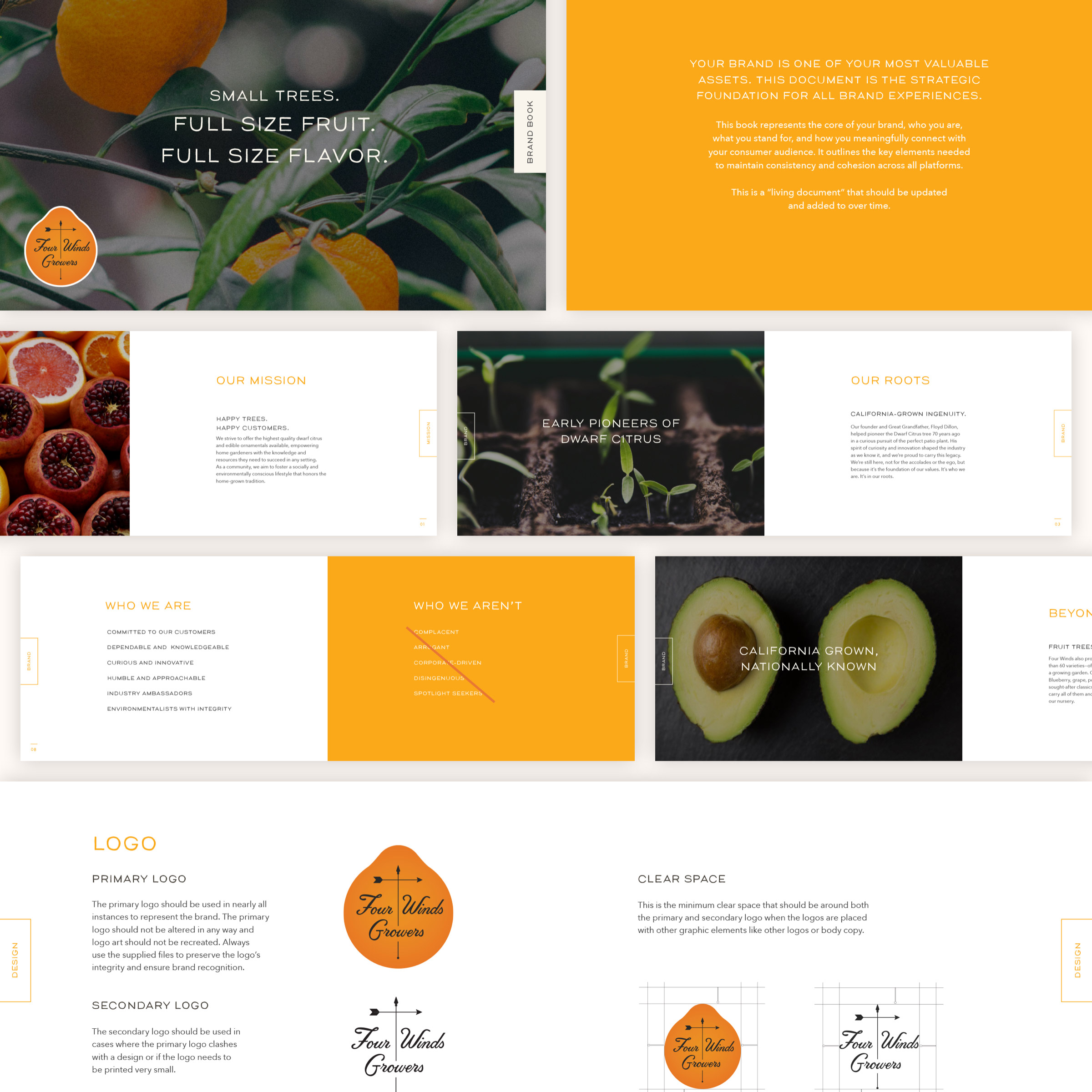 Four Winds Growers - Brand Book sample pages