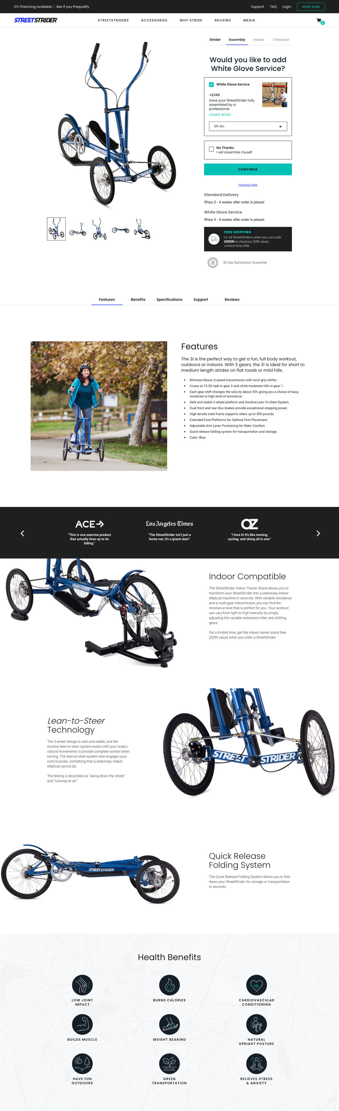 StreetStrider - Product Detail Page